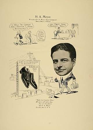 1923 Print H. A. Meyer Chicago Men Retail Shoe Company - Original Print
