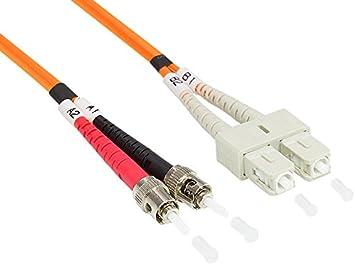Cavo per onde luminose 40 e 100 Gigabit//s Ethernet Good Connections OM4 LWL Cavo patch DUPLEX da SC a SC 20 m Multimode 50//125 cavo in fibra di vetro OM4 per 1  10