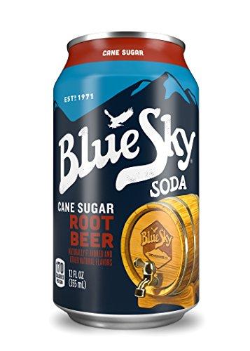 Blue Sky Soda - Blue Sky Root Beer Soda Soft Drink, 12 fl oz, 24 Pack