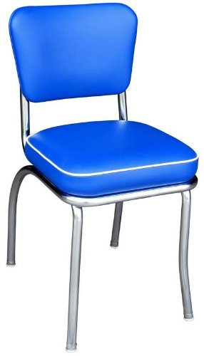 Richardson Seating Retro 1950u0027s Diner Side Chair In Royal Blue