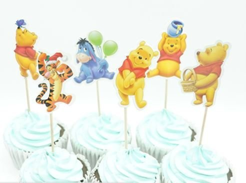 Winnie the Pooh Assorted Cupcake Picks Set of 12