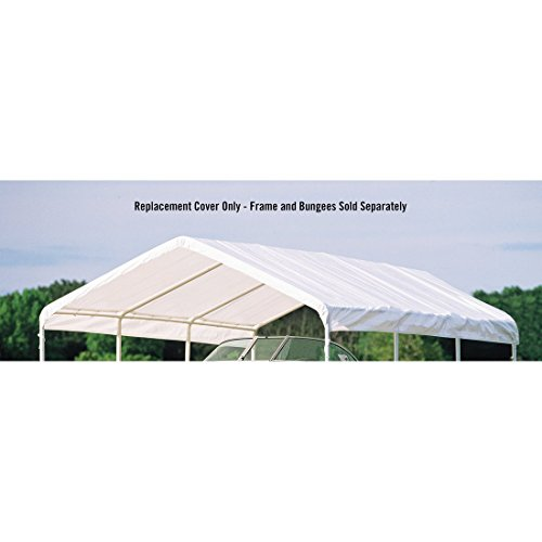 ShelterLogic Super Max Canopy Accessories Replacement Cover, White, 18 x 20-Feet by ShelterLogic (Image #1)