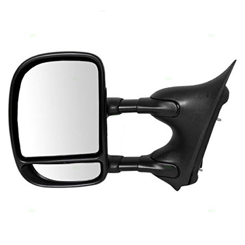 Drivers Manual Tow Side Mirror Telescopic Dual Arms Double Swing Replacement for Ford Pickup Truck 3C3Z17683AAA (Ford Truck Side Mirrors)