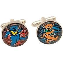 Grateful Dead Dancing Bears Logo Glass Domed Cufflinks