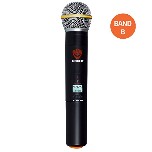 - Nady Handheld wireless microphone for U-1100 or U-2100 systems - Band B