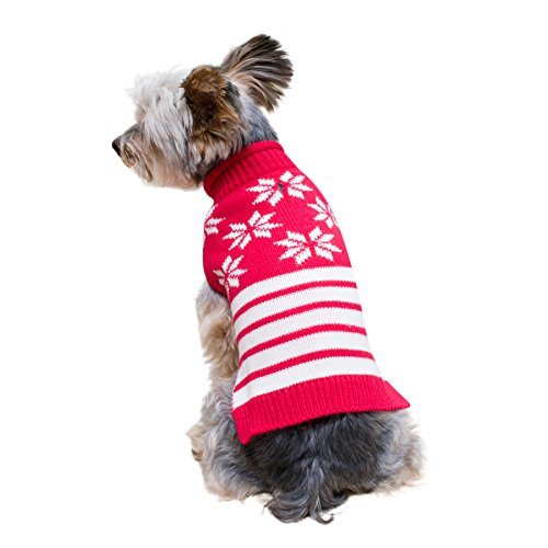 Stinky G Red snowflakes Sleeveless Dog Pet Sweater Small #10