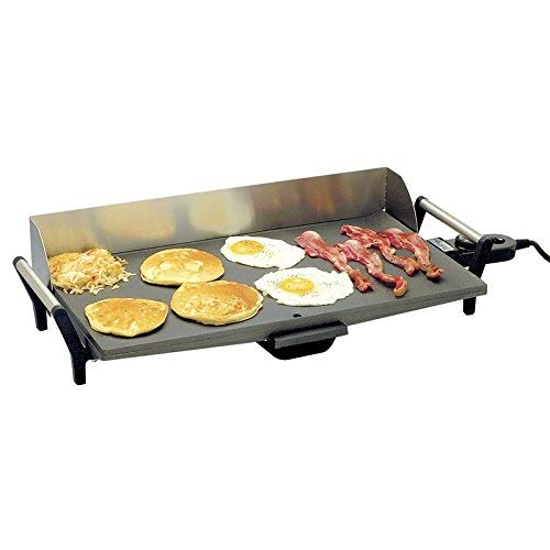 Professional Non-Stick Griddle with Back Griddle Grill Electric Top Indoor New