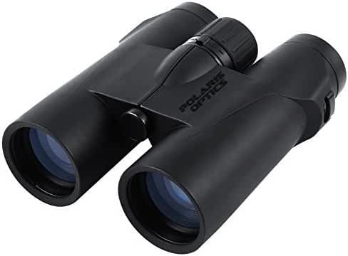 Polaris Optics PrecisionView 10X42 HD Professional Bird Watching Binoculars. Phase Correcting Laser 10X Focus Closes in to the Sharpest, Brightest, Clearest Detail. Waterproof. Fogproof