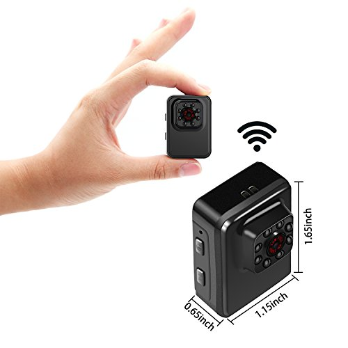 MILALOKO Mini WiFi Camera Wireless Small Camera 1080P HD 32GB Portable Sports Camera with IR Night Vision,Digital Video Recorder, Nanny Cam