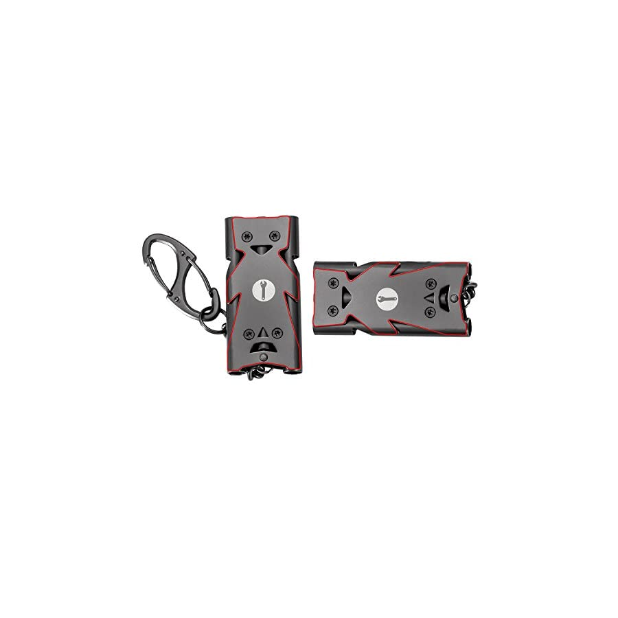 WINGOO Emergency Whistle Stainless Steel Three Tubes High Decibel EDC Outdoor Tool Lifesaving Whistle