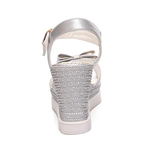 Inconnu 1TO9, Bout Ouvert Femme - Argenté - Silver, 36.5 EU