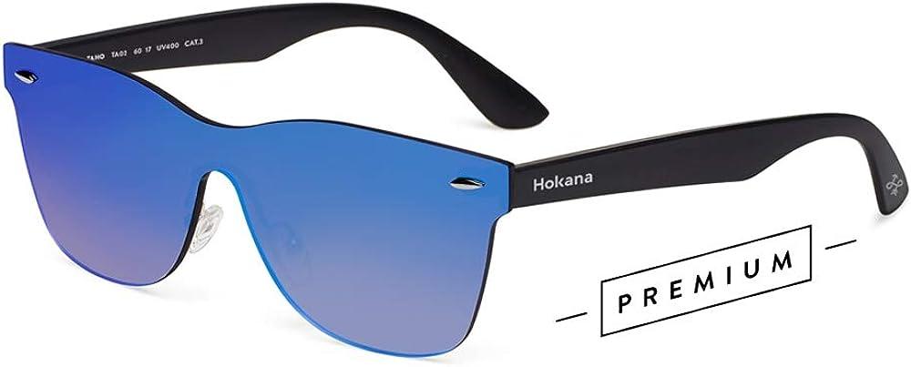 Disfraz Caso loco  Hokana Sunglasses BLACK MATT - BLUE TAHO | TA02: Amazon.es: Ropa y  accesorios