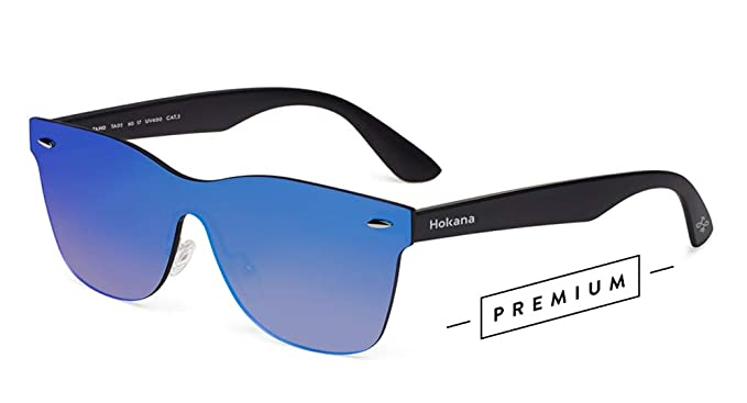 Hokana Sunglasses BLACK MATT - BLUE TAHO | TA02