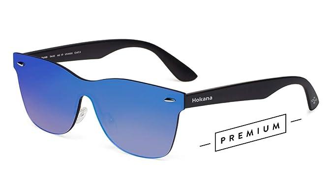 Hokana Sunglasses BLACK MATT - BLUE TAHO   TA02
