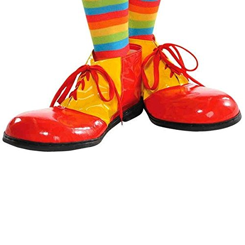 Ronald Mcdonald Halloween (AMSCAN Red and Yellow Clown Shoes Deluxe Halloween Costume Accessories, One)