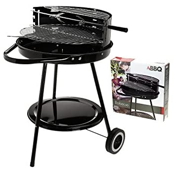 Hibachi Round Portable Garden Barbeque Wheel Barrel Charcoal Bbq Grill  674105
