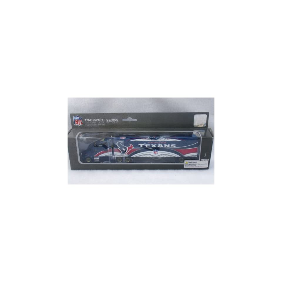 LIMITED EDITION GOLD WHEELS VARIATION 2008 HOUSTON TEXANS NFL SEMI DIECAST TRACTOR TRAILER TRUCK by UPPERDECK