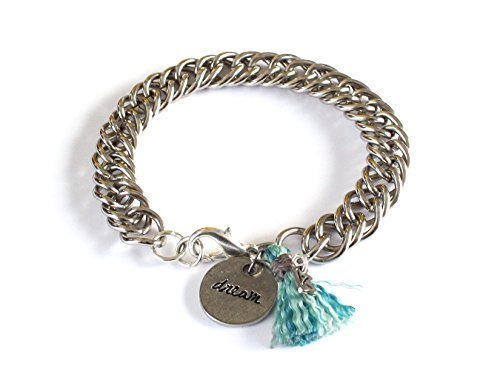 [Wakami Inspirational Guatemalan Dream Engraved Silver Charm Bracelet :: Perfect Gifts for Daughter Graduation or] (King Triton Costume Ideas)