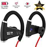 [Newest 2019] Bluetooth Headphones w/ 12+ Hours Battery - Best Wireless Sport Earphones, Mic - IPX7 Waterproof Music in-Ear Earbuds Gym, Running, Workout Men, Women