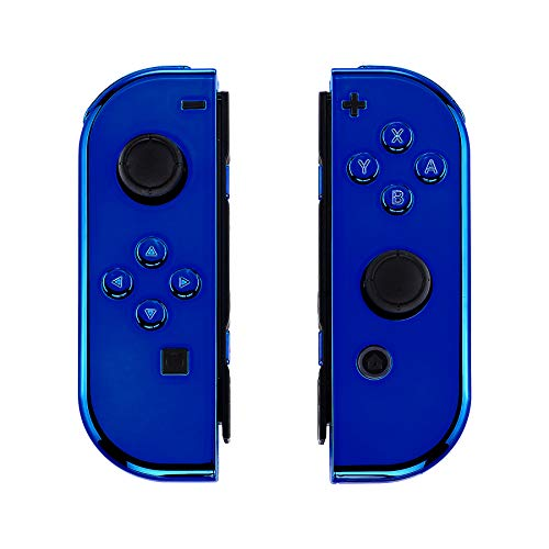 - eXtremeRate Chrome Blue Joycon Handheld Controller Housing with Full Set Buttons, DIY Replacement Shell Case for Nintendo Switch Joy-Con - Console Shell NOT Included