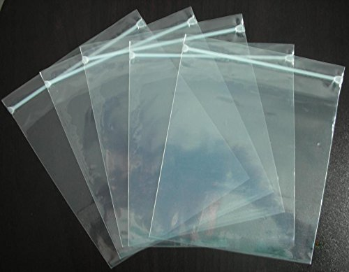 Halulu Self Sealing Lock Bags, Clear Small Storage Bags, 8x10