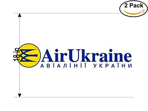 Air Ukraine Airlines Airplane Sticker Decal 2 Stickers Huge 18 Inches