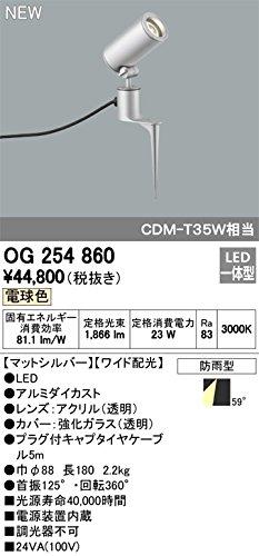 ODELIC(オーデリック) LEDスパイクスポットライト エクステリア 防雨型 ワイド配光 電球色 OG254860 B07DQH3LPW 20320