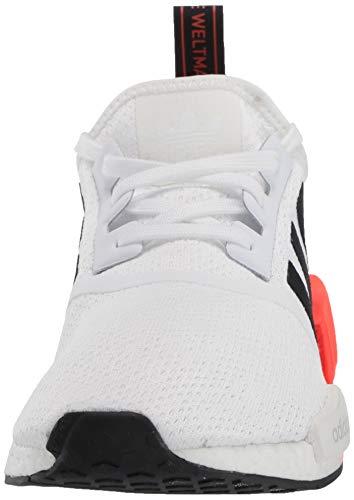 adidas Originals mens Nmd_r1 Sneaker, White/Black/Solar Red, 4.5 US