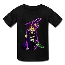 Kazzar Kid's Yu Gi Oh Yami And Dark Magician Round Collar T Shirt