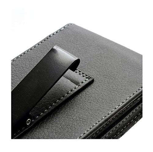 DFV mobile - Leather Flip Belt Clip Metal Case Holster Vertical for => Rim BlackBerry Evolve X BBH100-1 (2018) > - Rim Vertical