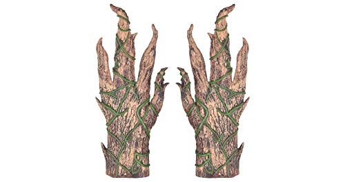 Pumpkin Gloves for Adults, Halloween Accessories for Scarecrow Costume, One Size, by Amscan ()