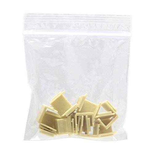 Cmple - Blank Insert For Wall Plate - 10pcs/Pack (Ivory) Ivory Blank Keystone Insert