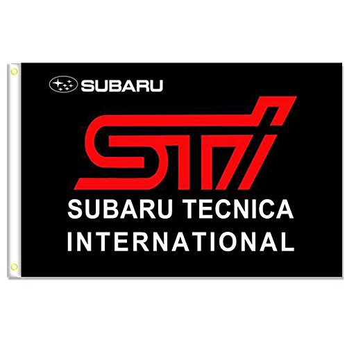 HomeKing Subaru Flag Banner 3X5FT 100% Polyester,Canvas Head