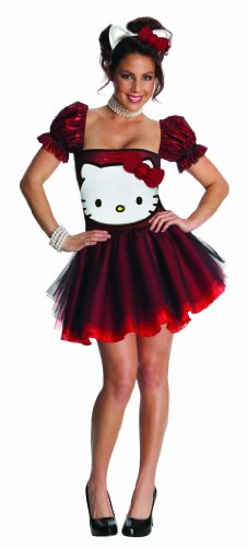 Hello Kitty Sexy Red Sequin Costume Dress Adult X-Small (Hello Kitty Dresses For Adults)