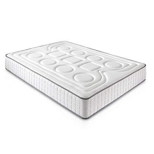 DAGOSTINO HOME Colchón viscoelástico CALIFORNIA 90 x 200 x 20 cm en color blanco - Acogida muy suave con firmeza - (Todas las medidas): Amazon.es: Hogar