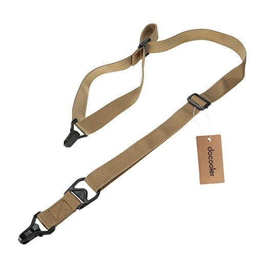 Docooler Military Tactical Safety Two Points Outdoor Belt Carbine Sling Adjustable Strap (Safety Sling)