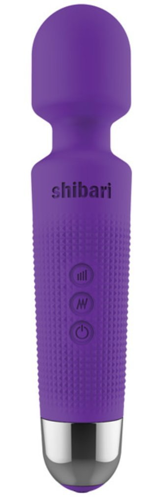New Purple Shibari Mini Halo Wireless Wand Massager Vibrator - High Power Motor - Ultra Soft Silicone - USB Rechargeable - Water Resistant - Travel Ready - 20 Patterns 10 Speeds!
