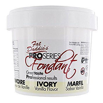 Fat Daddio's Rolled Fondant Icing Ivory 5 Pounds