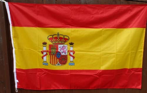 España Bandera – relación 2: 3 – Colores Pantone Exacto – Exclusivo para 1000 Banderas: Amazon.es: Hogar
