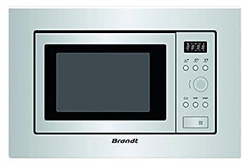 Brandt BMS6112X Microondas Integrable, 700 W, 17 Litros, Gris