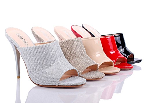 Image of weyoh Sexy Slip On Only Padded Cushion Peep Toe Mules High Heel Womens Sandals Shoes New Without Box