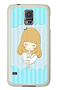New Custom Phone Case Beautiful Blue Sofa Beauty Girl For Samsung Galaxy S5 Cases - Cool Durable luxury