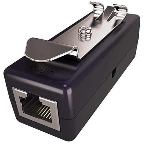 Ethernet Surge Protector (DIN Rail Mount or Standalone) (PoE+ Gigabit) - Gas Discharge Tube for Full Protection - RJ45 Lightning Suppressor - LAN Network CAT5/CAT6 Thunder Arrestor - Tupavco TP309 ()