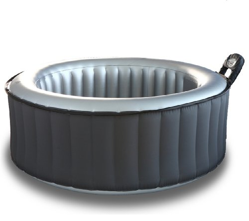 M Spa Model B-110 Silver Cloud Hot Tub, 71 by 71 by 28-Inch, Gray by M-SPA