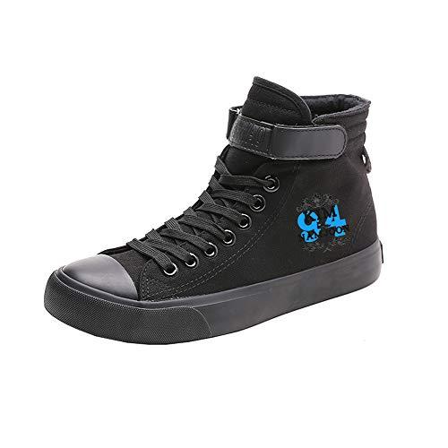 Cordones Spring Casual Zapatos Transpirables Alta De Bts Canvas Black20 Con Ayuda Estudiantes vARTgax