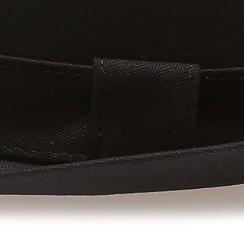 MIRMARU Classic Trilby Short Brim 100% Cotton Twill Fedora Hat with Band -  Exclusive Products 81f39593bf92