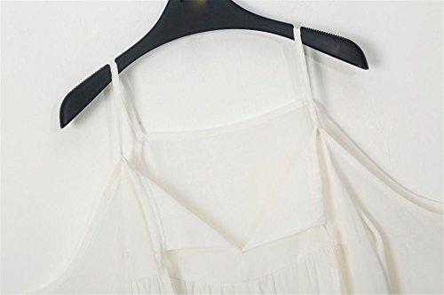 LHWY Donna Top In Chiffon Flare Sleeve Casual Senza Spalline V Collo Camicia Di T-Shirt