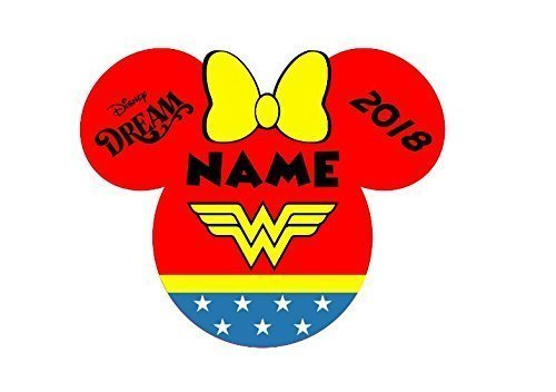 Personalized Disney Wonder Woman Minnie Inspired Magnet for Disney Cruise with your -