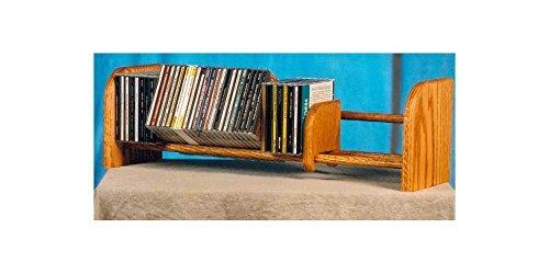 (1 Row Dowel CD Rack (Honey Oak))