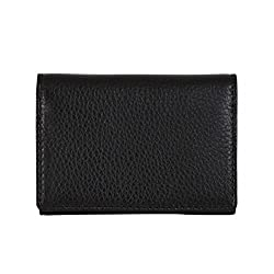 Men's Genuine Leather Business Name Card Holder Credit Card Case Wallet Brown